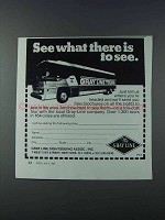 1981 The Gray Line Bus Tours Ad - See What There Is