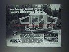 1981 Coleman Folding Trailer Ad - Hideaway Hotels