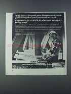 1981 United States Treasury Ad - Direct Deposit