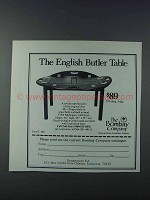 1981 The Bombay Company English Butler Table Ad