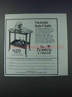 1981 The Bombay Company English Butler's Buffet Ad
