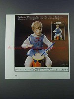 1981 Cybis Nicky, the Drummer Boy Porcelain Ad