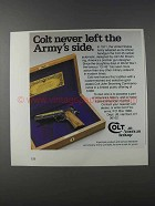 1981 Colt 1911 John Browning Commemorative Ad - Army's