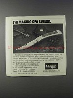 1981 Gerber Sportsman II Trailing Point Knife Ad