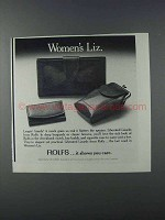1981 Rolfs Liberated Lizards Ad - Checkbook, Key Kaddy
