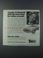 1981 Thrifty Rent-a-Car Ad - Unlimited The Best Deal