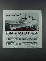 1981 Eastern Steamship Lines SS Emerald Seas Ad