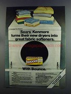 1982 Bounce Dryer Sheets Ad - Sears Kenmore