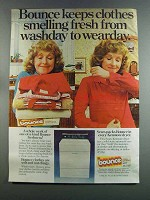 1982 Bounce Dryer Sheets Ad - Smelling Fresh