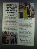 1982 Speed Queen Washer Ad - Washday Never Ends