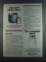 1982 Speed Queen Washing Machine Ad - Just Part