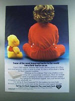 1982 Spring Air Back Supporter Mattress Ad - Innocent