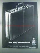 1982 Mark Cross Briefcase Ad - Here Today, Tomorrow