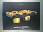 1982 Designs For Leisure The Manhattan Pool Table Ad