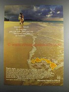1982 Sheraton Hotels in Hawaii Ad - Look Back And Say