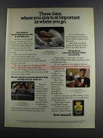 1982 Best Western Motel Ad - Where You Stay