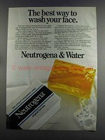 1982 Neutrogena Soap Ad - Best Way to Wash Face