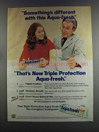 1982 Aqua-Fresh Toothpaste Ad - Something's Different