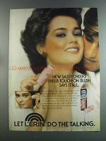 1982 L'erin Sassy Cheeks Sheer Touch-On Blush Ad