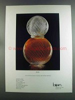 1982 Bijan Cologne Ad - Not Every Man Will Be Wearing