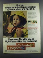 1982 Colgate Toothpaste Ad - When She Needs It