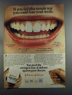 1982 Johnson's Dental Floss Ad - Fail This Test