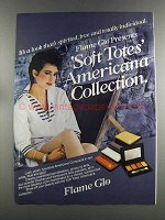 1982 Flame Glo Soft Totes Americana Collection Ad