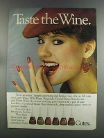 1982 Cutex Nail Polish Ad - Taste the Wine