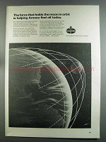 1982 Amoco Oil Ad - Holds the Moon in Orbit