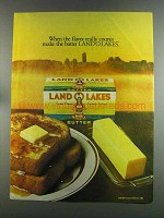 1982 Land O Lakes Butter Ad - Flavor Really Counts