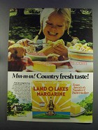 1982 Land O Lakes Margarine Ad - Country Fresh