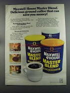 1982 Maxwell House Master Blend coffee Ad - Delicious