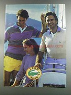 1982 Izod Lacoste Fashion Ad