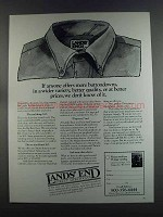 1982 Lands' End Buttondown Shirts Ad - If Anyone
