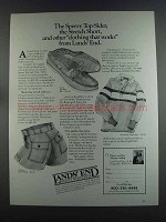 1982 Lands' End Ad - Short, Sperry Moc. Rugby Shirt