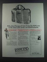 1982 Lands' End Consort Attache Ad - Chicago Ad Man