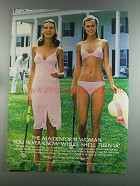 1982 Maidenform Sweet Nothings Ad - Bra Camisole