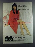 1982 L'eggs Sheer Elegance Pantyhose Ad - From Orient