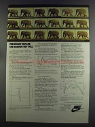 1982 Nike Shoes Ad - The Bigger You Are, The Harder