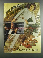 1982 Naturalizer Shoes Ad - The Walk of the Town