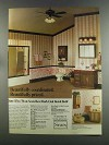 1982 Sears Dark Oak Bath Ad - Beautifully Coordinated
