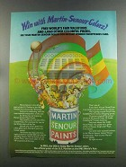 1982 Martin-Senour Paint Ad - Win With Colors