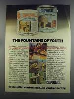 1982 Cuprinol Wood Preservative Stains Ad - Youth