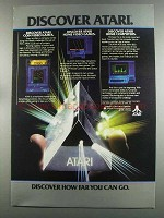 1982 Atari 400 and 800 Home Computers Ad - Discover