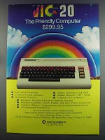 1982 Commodore VIC-20 Computer Ad - Friendly Computer