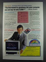 1982 Commodore VIC-20 Computer Ad - William Shatner