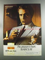 1982 Barclay Cigarettes Advertisement - The Pleasure