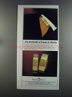 1982 Baume & Mercier Watch Ad - It's Obviously