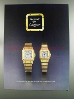 1982 les must de Cartier Watches Ad
