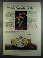 1982 Rolex Day-Date Chronometer Ad - Frederick Forsyth